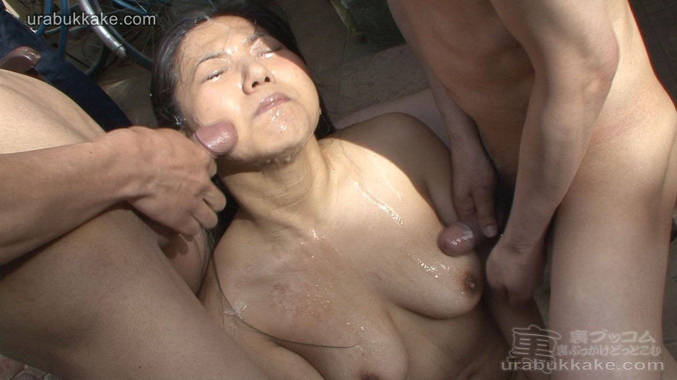 asian covered in cum