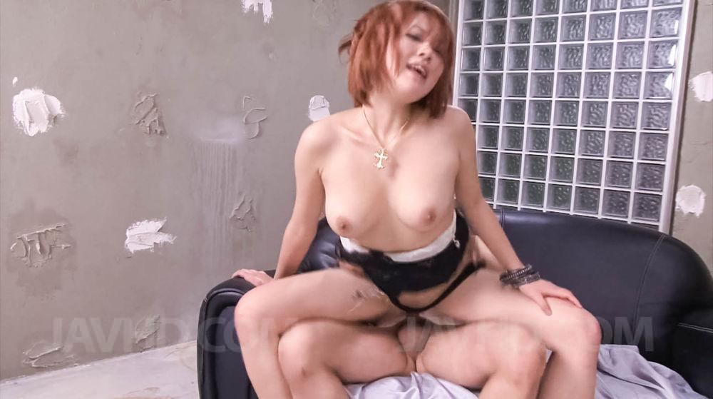 japanese porn redhead - SARA Asian chick has peach rubbed with thong and rides joystick - Japarn  porn pics at