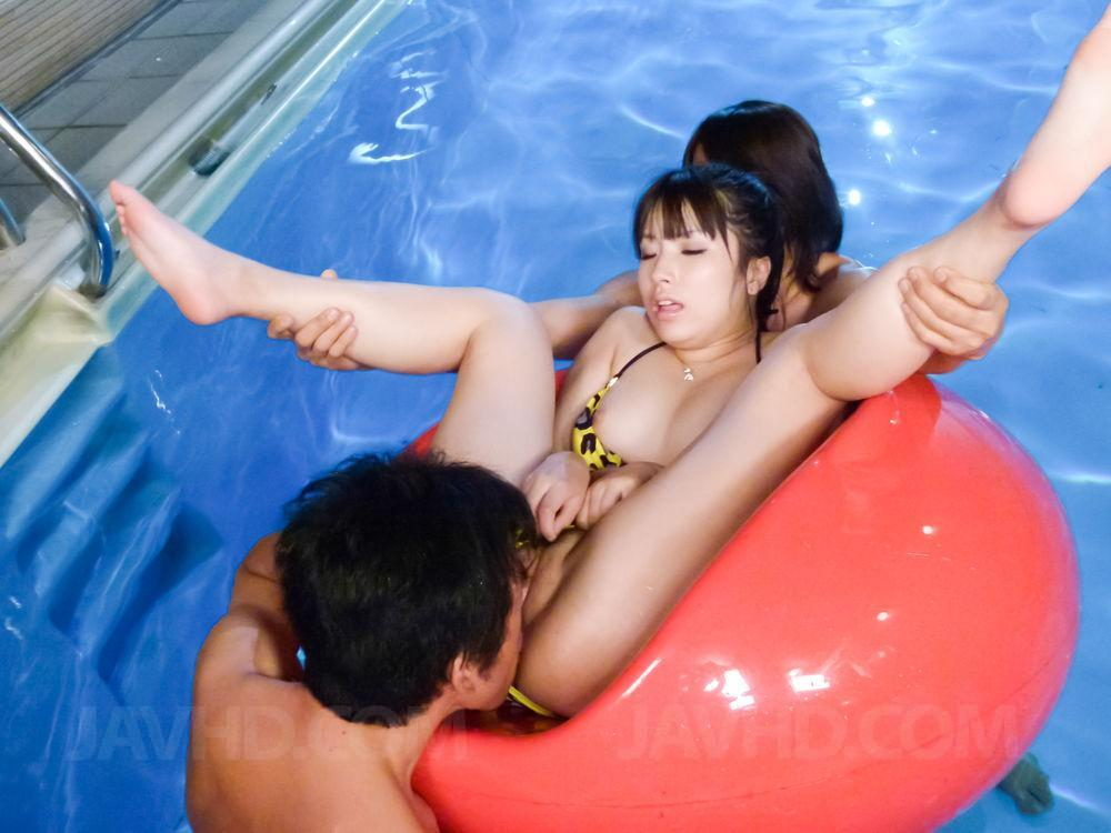 Hinata tachibana gets a huge cock to ruin her tight holes 7