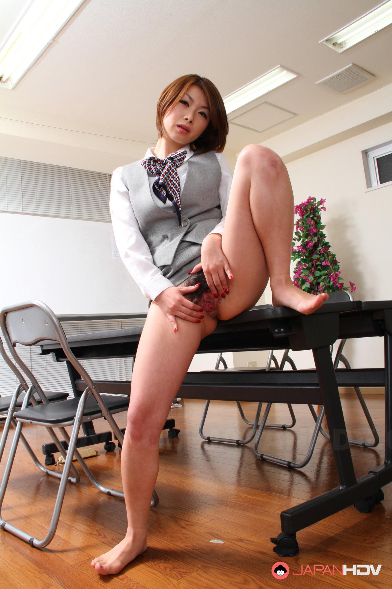 Japanese nude office