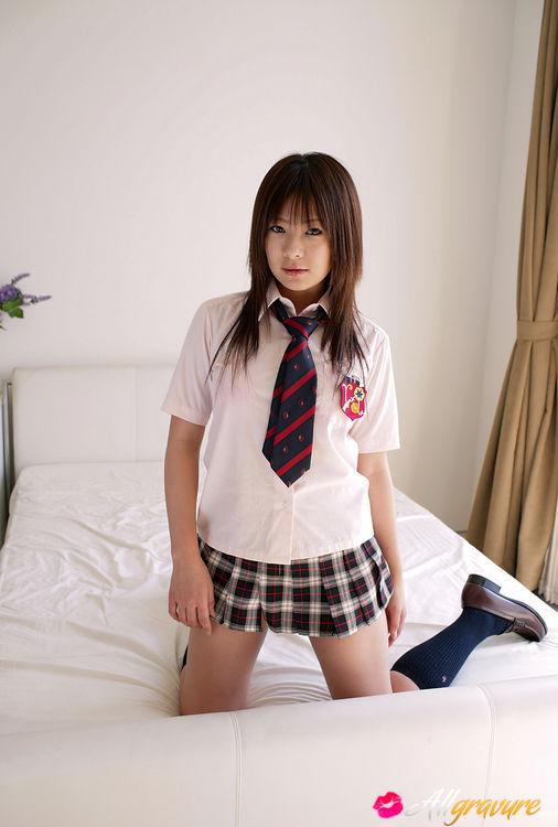 three asian teens nude