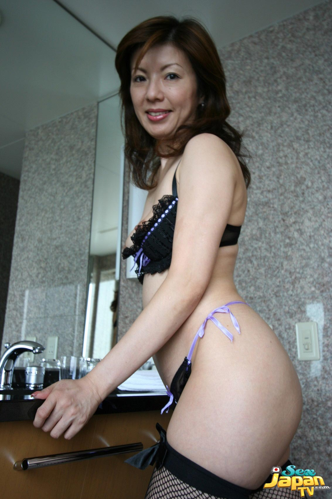 sexy naked asian in panties